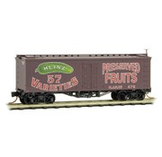Micro-Trains Line (MTL) 489- 36' Wood-Sheathed Ice Reefer - Ready to Run -- Heinz 472 (Boxcar Red, red, green, Preserved Fruits, Heinz Series 2)