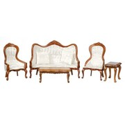 AZT - Aztec Imports 0129 VICT.Living Room SET /5 /WAL /CS