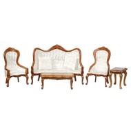 AZT - Aztec Imports 0129 VICT.Living Room SET /5 /WAL /CS
