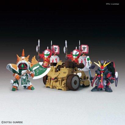 """BANDAI MODEL KITS BB410 DianWei Asshimar  JiaXu Ashtaron Siege Weapon & Six Combining Weapons Set A """"BB Senshi Sangokuden"""" Bandai SD"""