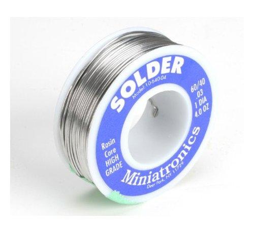 MNT - Miniatronics Corp 475- 1064004 Rosin Core Solder 60-40  4oz