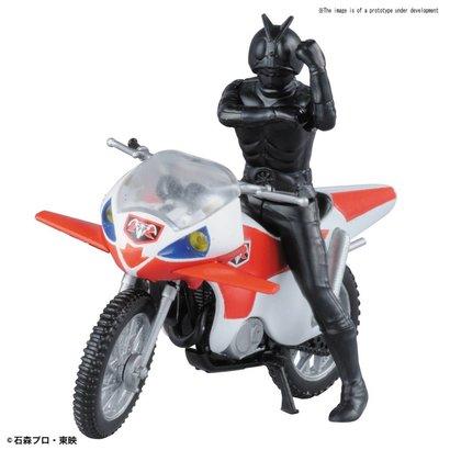 """BANDAI MODEL KITS 221063 New Cyclone & Masked Rider 2 """"Kamen Rider"""", Bandai Mecha Collection"""
