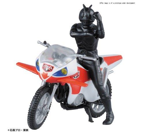 """Bandai 221063 New Cyclone & Masked Rider 2 """"Kamen Rider"""", Bandai Mecha Collection"""