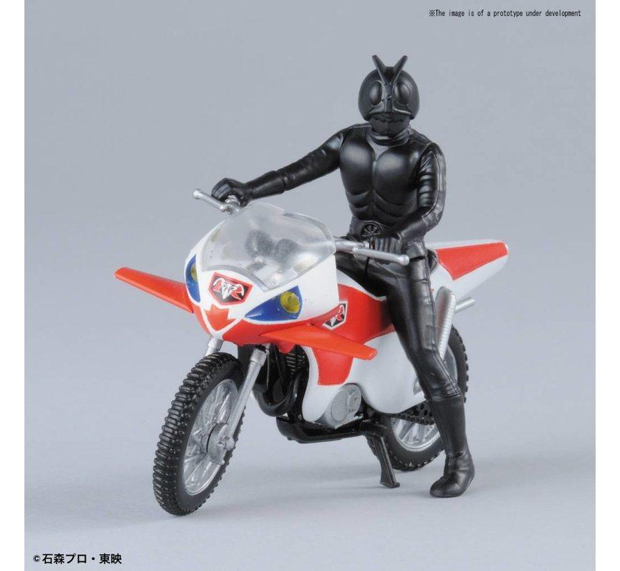 """221063 New Cyclone & Masked Rider 2 """"Kamen Rider"""", Bandai Mecha Collection"""