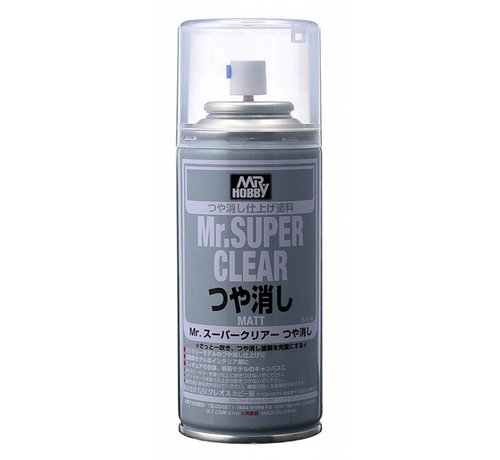 Mr. Hobby GSI - GNZ B514  Mr SUPER CLEAR FLAT Spray