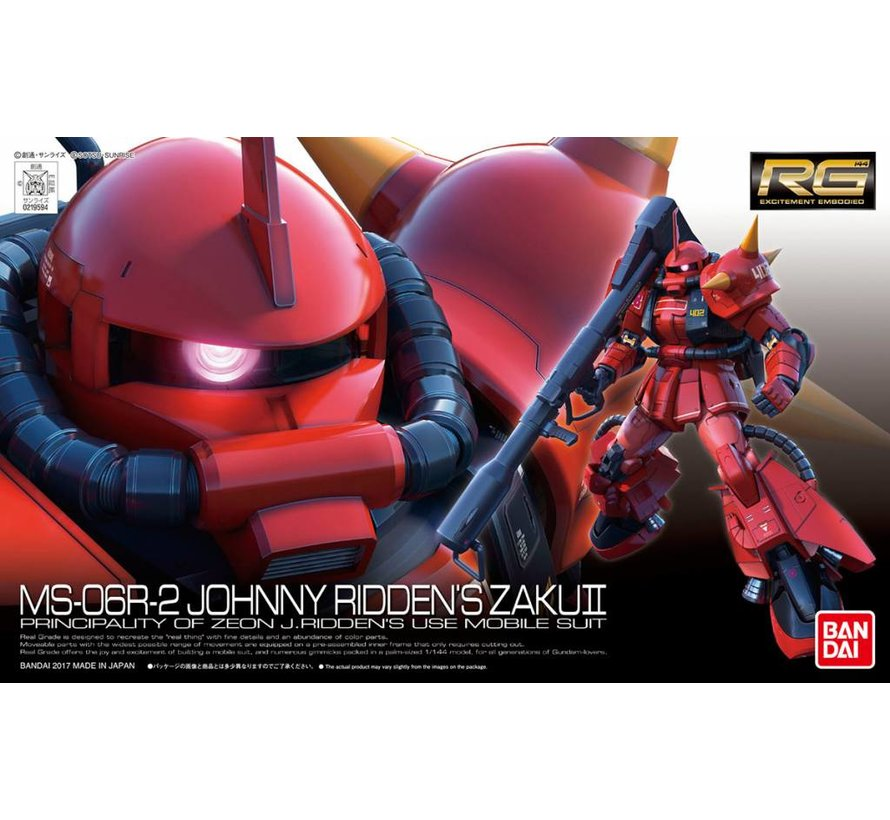"219594 #26 MS-06R-2 Johnny Ridden's Zaku II ""Mobile Suit Gundam MSV"" Bandai RG 1/144"