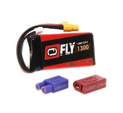VNR - Venom 25028 LiPo 3S 11.1V 1300mAh 30C Universal Plug 2.0 Fly Battery