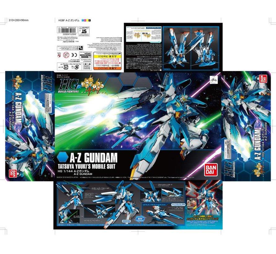 "224496 A-Z Gundam ""Build Fighters"", Bandai HGBF 1/144"