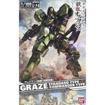 "BANDAI MODEL KITS #02 Graze Standard/Commander Type ""Gundam IBO"", Bandai IBO 1/100"