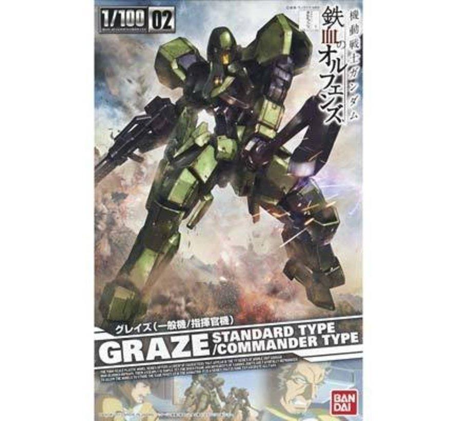 """#02 Graze Standard/Commander Type """"Gundam IBO"""", Bandai IBO 1/100"""