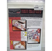Bare Metal Foil  (BMF) 120 White Decal Film 8.5x11' InkJet 3-pk