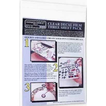 BMF - Bare Metal Foil 122 CLEAR INKJET DECAL SHEETS