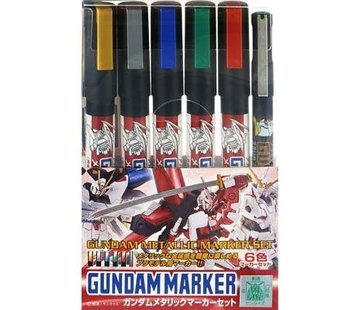 Mr. Hobby GSI - GNZ Gundam Marker Metallic Set of 6