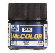 Mr. Hobby GSI - GNZ C28 Metallic Steel 10ml , GSI Mr. Color
