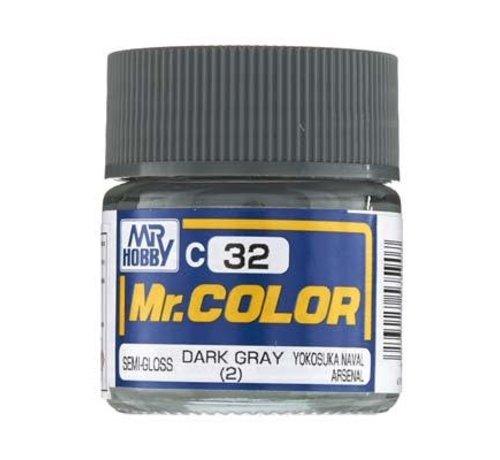 Mr. Hobby GSI - GNZ GNZ-C32 Semi Gloss Dark Gray 2 10ml