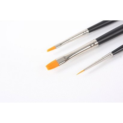 TAM - Tamiya 865- 87067 Modelng Brush Hi Finish Standard Set of 3