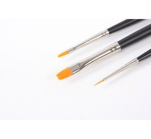 Tamiya (TAM) 865- 87067 Modelng Brush Hi Finish Standard Set of 3
