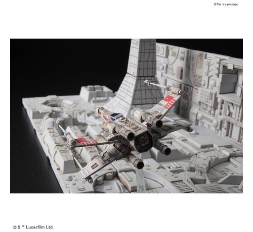 """BANDAI MODEL KITS 230343 Death Star Attack Set """"Star Wars"""", Bandai Star Wars 1/144 Plastic Model Kit"""