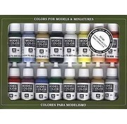 VALLEJO ACRYLIC (VLJ) Basic USA Colors Paint Set