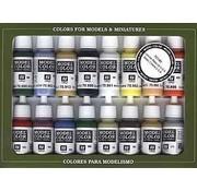 VALLEJO ACRYLIC (VLJ) Basic USA Colors Paint Set