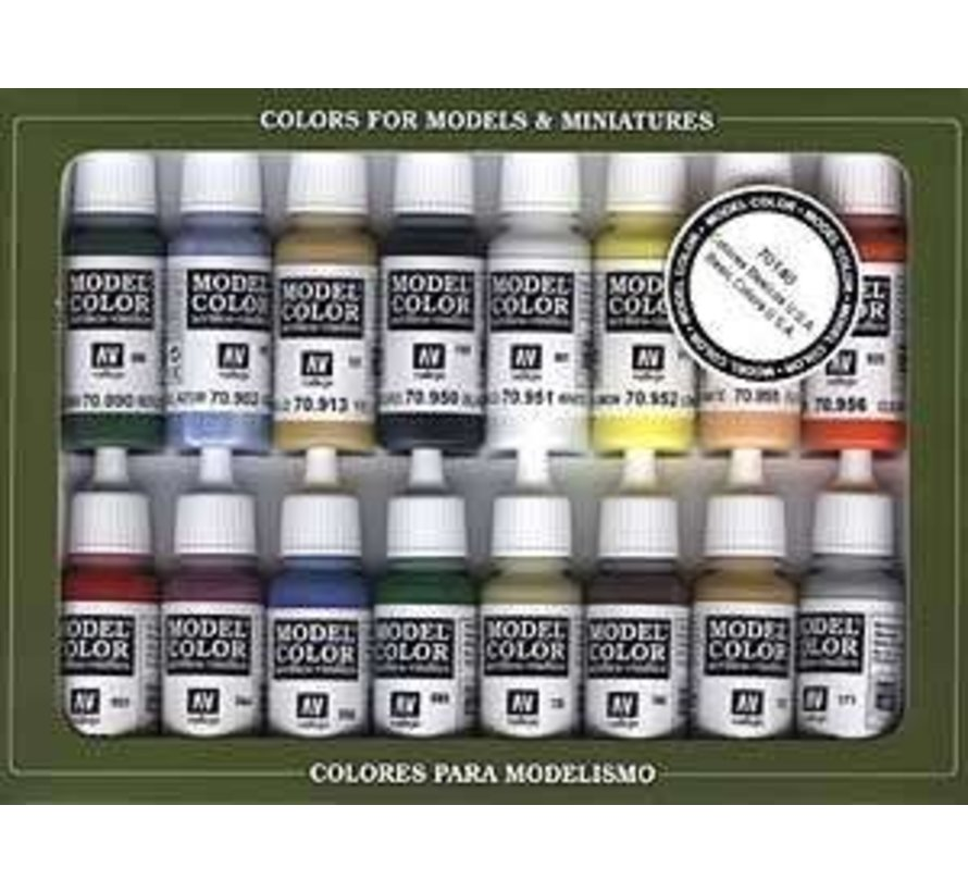 VJ70140 - Basic USA Colors - Vallejo Paint Set