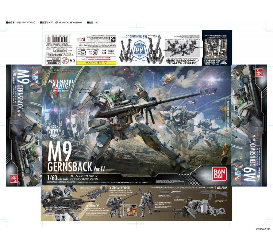 "222261 M-9 Gernsback (Ver. IV) ""Full Metal Panic! Invisible Victory"", Bandai 1/60"
