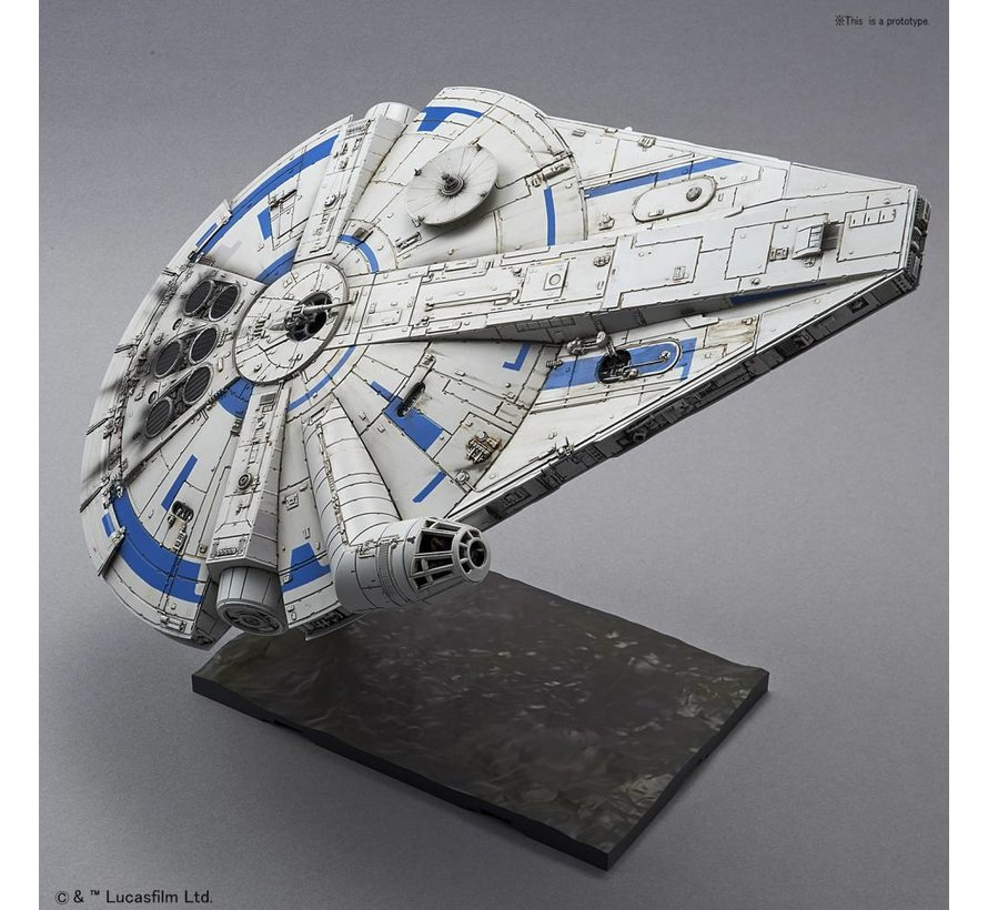 "225754 Millennium Falcon (Lando Calrissian Ver.) ""Solo: A Star Wars Story"", Bandai Star Wars 1/144 Plastic Model Kit"
