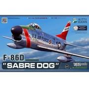 KITTY HAWK MODELS (KH) 1:32 F86D Sabre Dog USAF Fighter (New Tool)