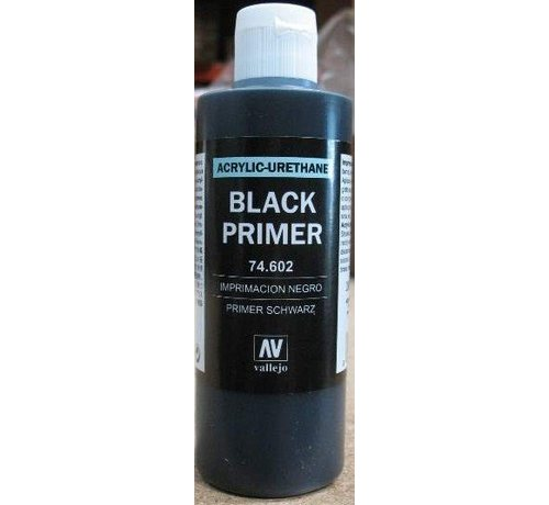 VALLEJO ACRYLIC (VLJ) 74602 - BLACK PRIMER ACRY-POLY      200ML