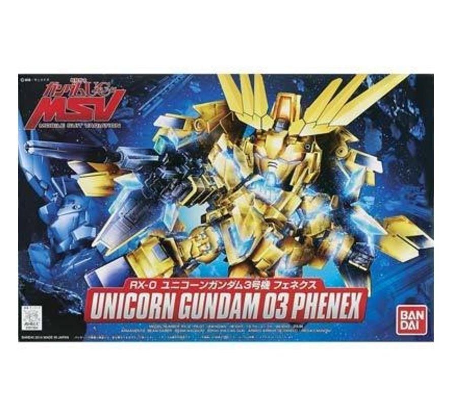 """BB#394 Unicorn Gundam 03 Phenex """"Gundam UC"""" """"Gundam Wing"""" Bandai SD"""