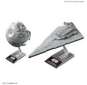 BANDAI MODEL KITS Death Star II & Star Destroyer Star Wars