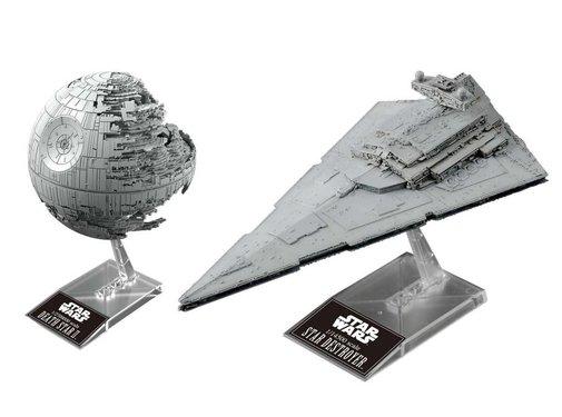 BANDAI MODEL KITS Death Star II & Star Destroyer Star Wars