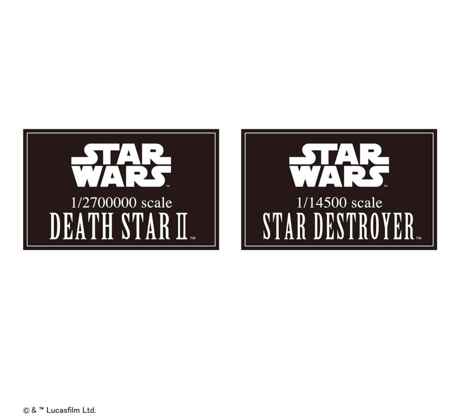 "230358 Death Star II 1/2,700,000 & Star Destroyer 1/14,500 ""Star Wars"", Bandai Star Wars Plastic Model"