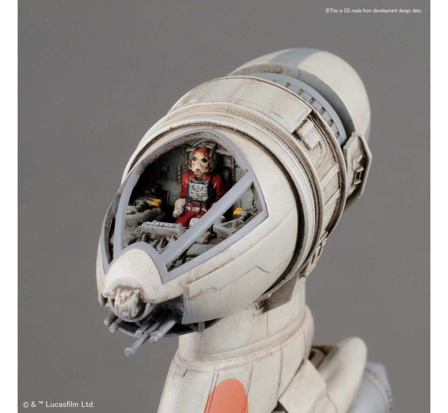 """230456 B-Wing Starfighter """"Star Wars"""", Bandai Star Wars 1/72 Plastic Model"""