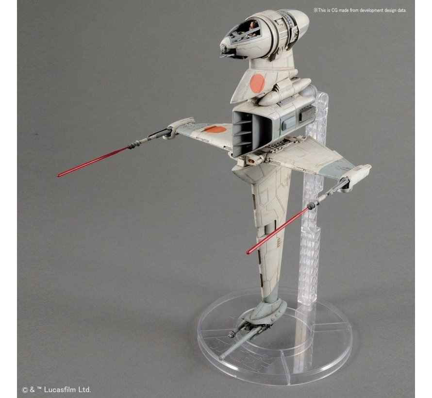"230456 B-Wing Starfighter ""Star Wars"", Bandai Star Wars 1/72 Plastic Model"
