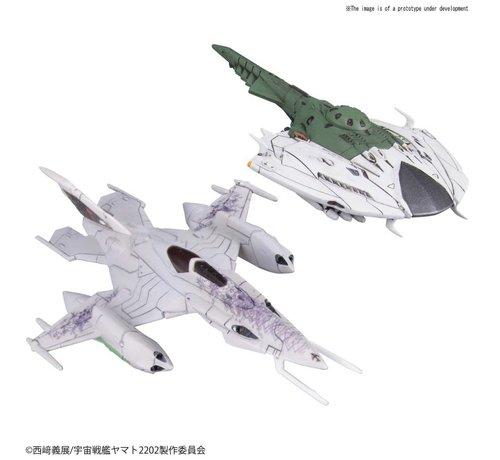 "BANDAI MODEL KITS 230455 Czvarke & Desvatator Set ""Star Blazers"", Bandai Mecha Collection"