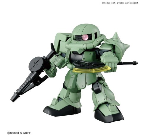"BANDAI MODEL KITS 230353 #04 Cross Silhouette Zaku II ""SD Gundam"", Bandai SDCS Gundam"