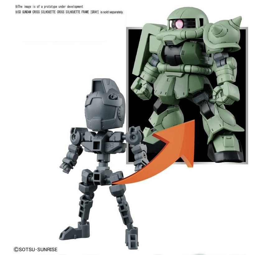 "230353 #04 Cross Silhouette Zaku II ""SD Gundam"", Bandai SDCS Gundam"