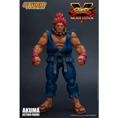 """Storm Collectibles 87060 Akuma (Nostalgia Costume) """"Street Fighter V"""", Storm Collectibles 1/12 Action Figure"""