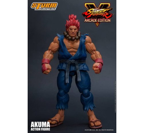 "Storm Collectibles 87060 Akuma (Nostalgia Costume) ""Street Fighter V"", Storm Collectibles 1/12 Action Figure"