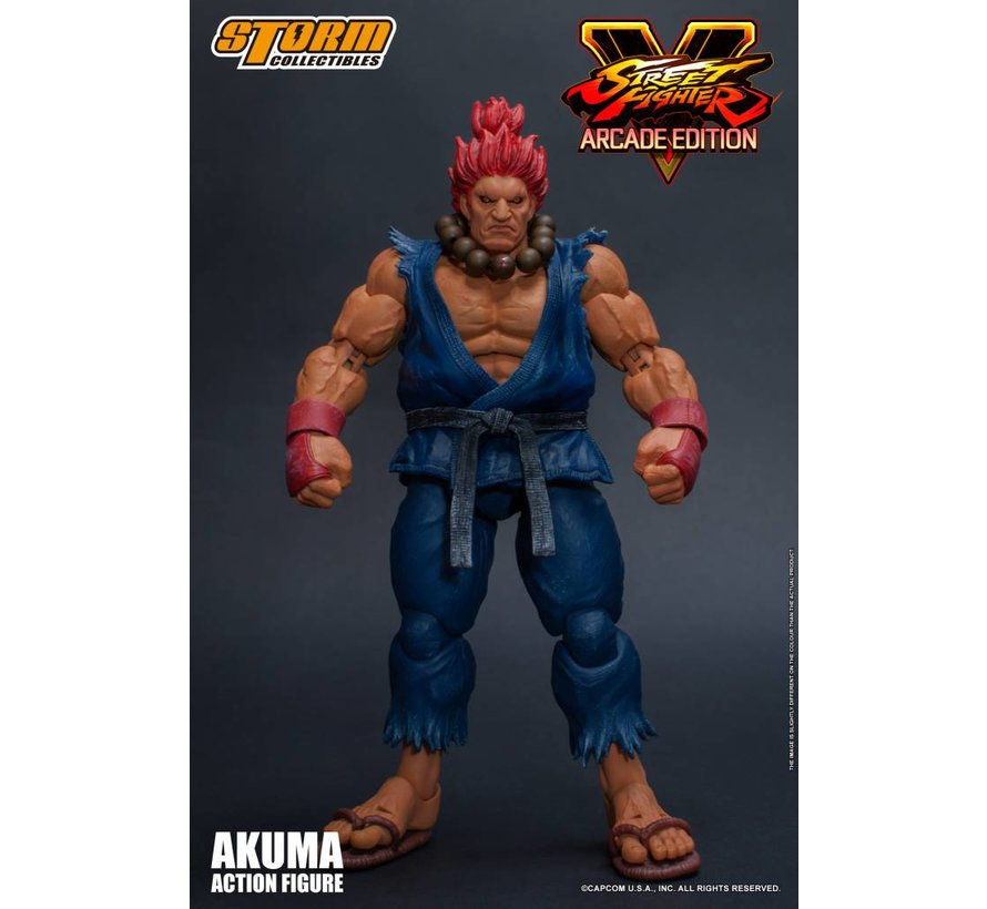 "87060 Akuma (Nostalgia Costume) ""Street Fighter V"", Storm Collectibles 1/12 Action Figure"