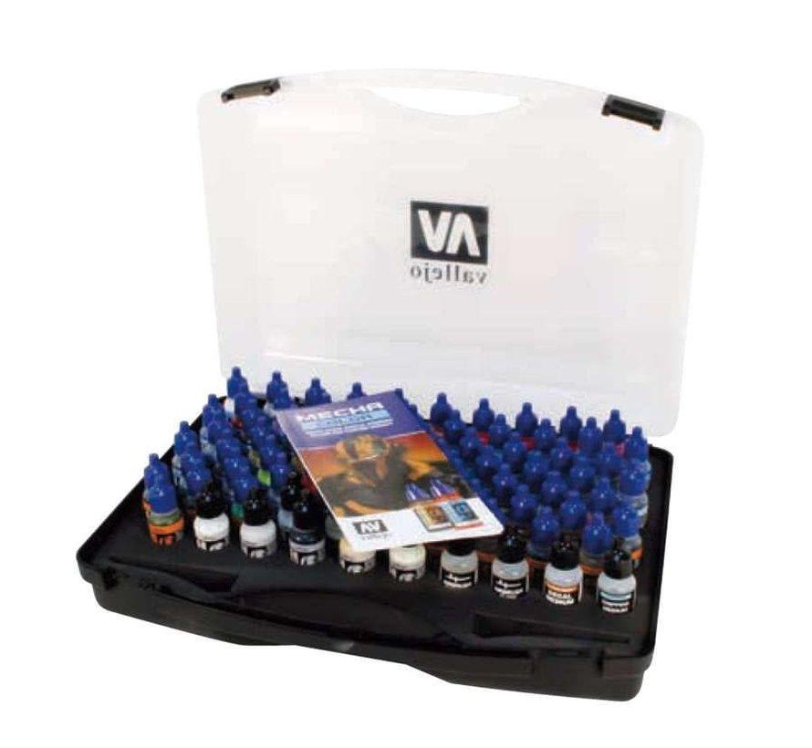 69990 Vallejo - Mecha Color Paint Set in Case