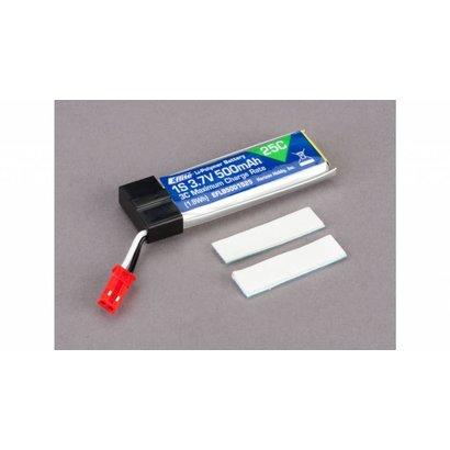 EFL - E-flite 500mAh 1S 3.7V 25C LiPo Battery