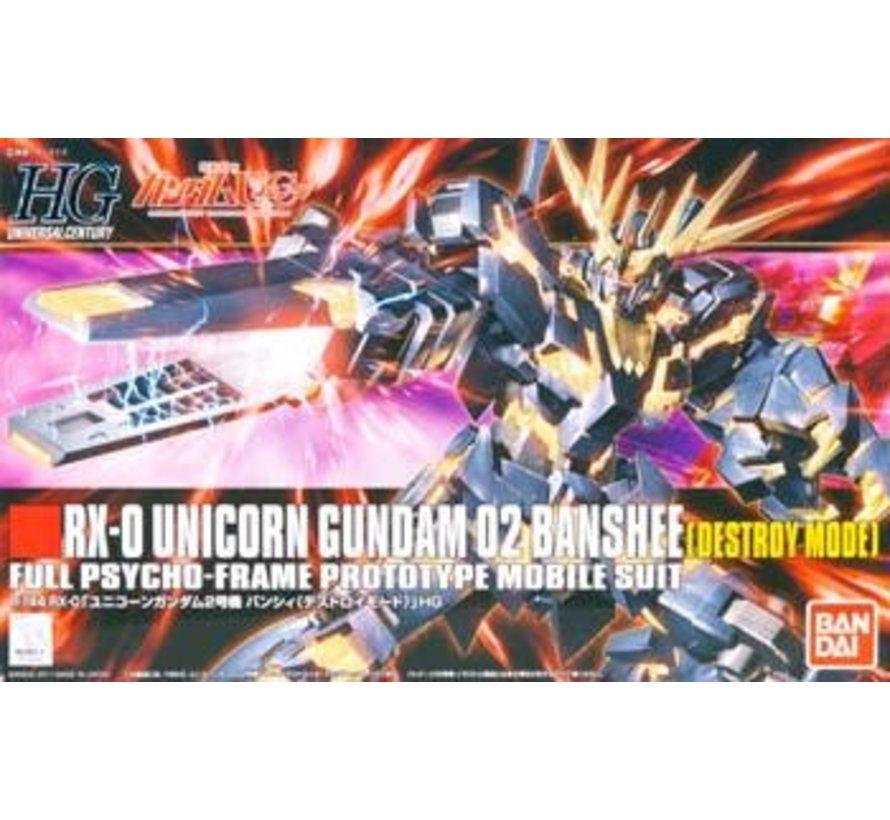 "173901 #134 Unicorn Gundam 02 Banshee Destroy Mode ""Gundam UC"" Bandai HGUC 1/144"