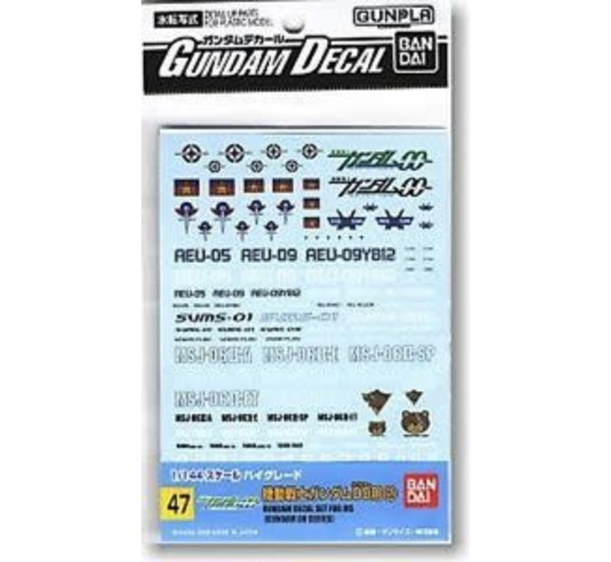 BAN153713 Gd-47 Gundam Oo Decals