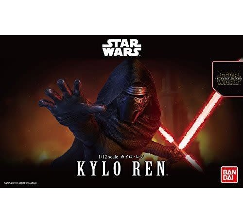 BANDAI MODEL KITS 207572 KYLO REN 1/12 Scale Plastic Model Action figure Kit Star Wars