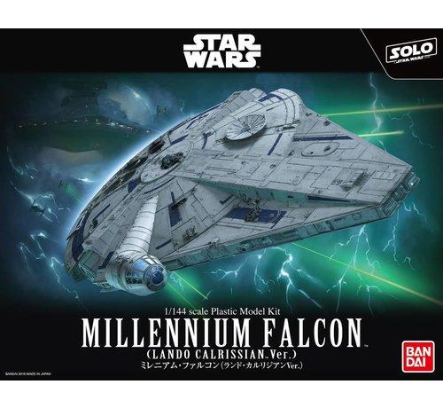 "BANDAI MODEL KITS 225754 Millennium Falcon (Lando Calrissian Ver.) ""Solo: A Star Wars Story"", Bandai Star Wars 1/144 Plastic Model Kit"