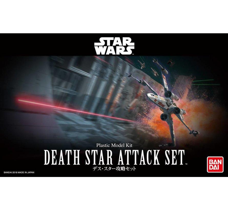 """230343 Death Star Attack Set """"Star Wars"""", Bandai Star Wars 1/144 Plastic Model Kit"""