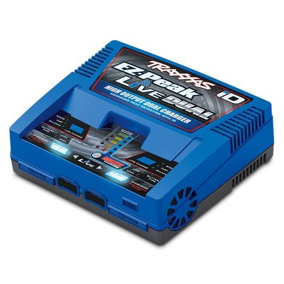 TRA - Traxxas 2973 - Charger, EZ-Peak Live Dual, 200W, NiMH/LiPo with iD Auto Battery Identification