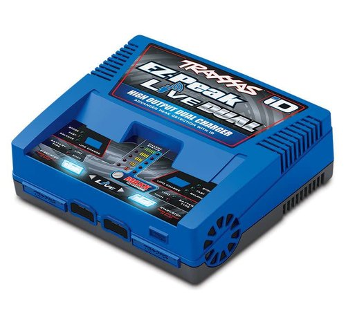 Traxxas -TRA 2973 - Charger, EZ-Peak Live Dual, 200W, NiMH/LiPo with iD Auto Battery Identification
